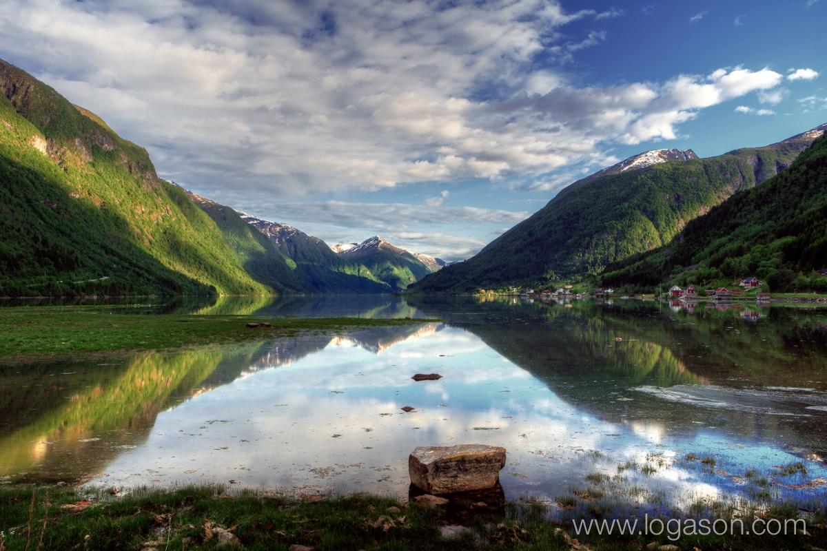 Fjærland in Sogn og fjordane Norway