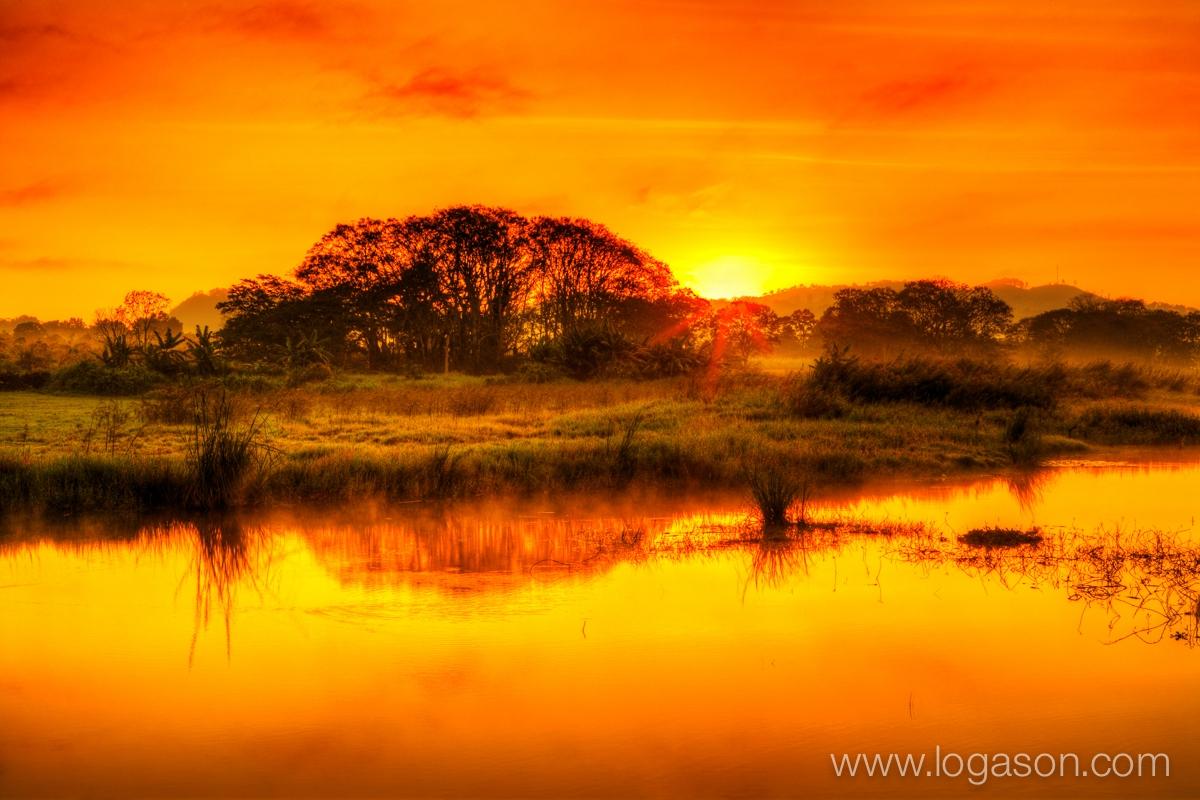 Morning glow on Lake Yojoa Honduras