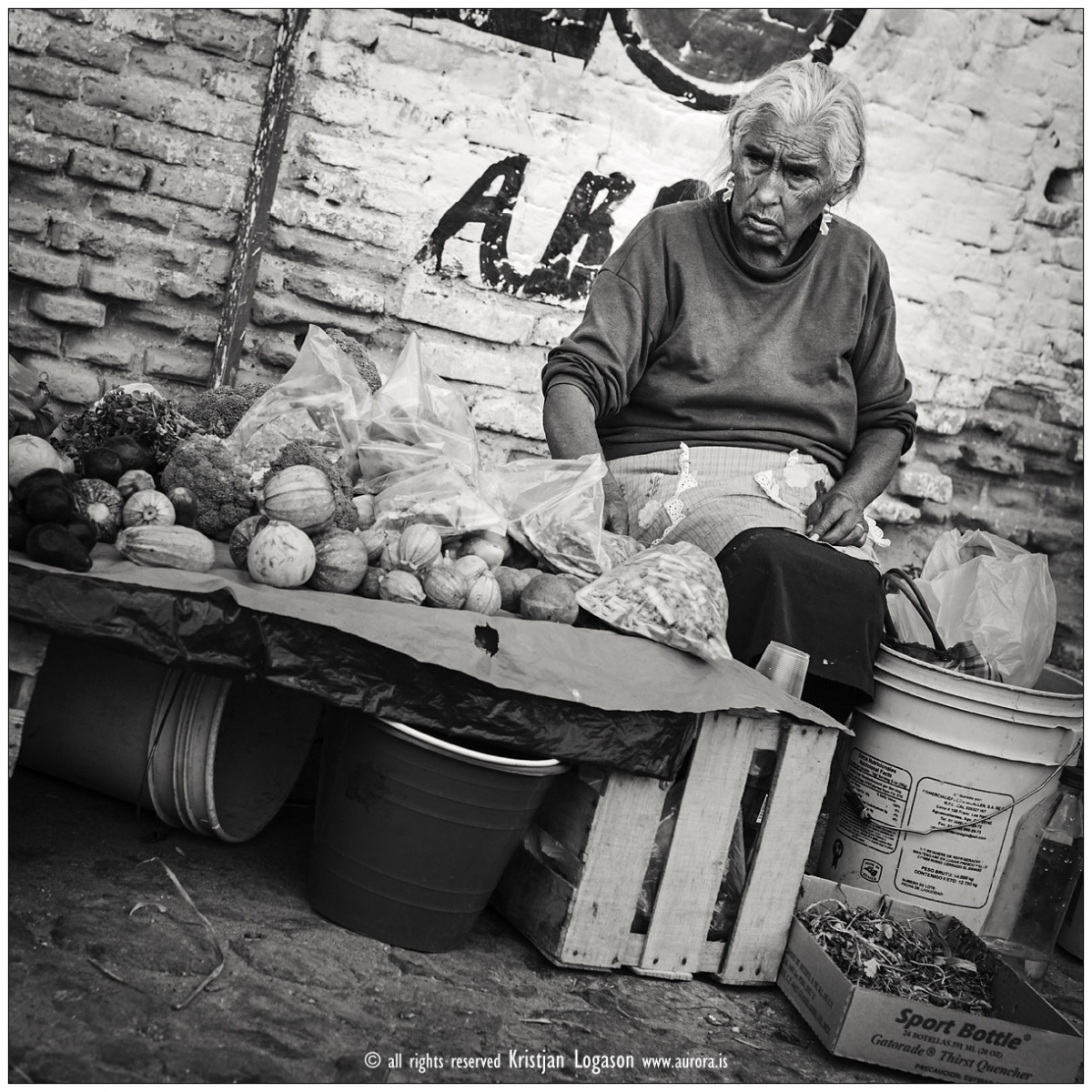Street vendor selling vegetable and fruits