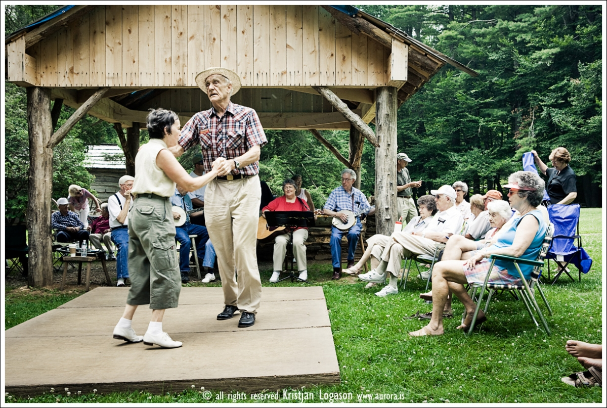 Dancing at Mabry Mill