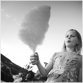 Girl with candy floss - Norway