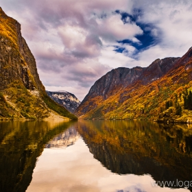 Autumn in Gudvangen Norway