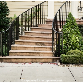 Staircase leading up to a house in Charleston