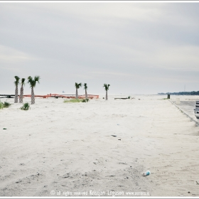 Empty sand beach